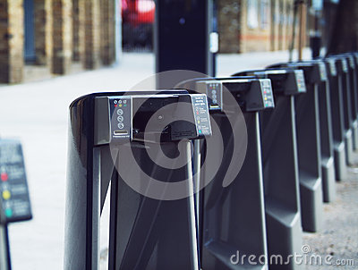 Cycle hire docking stations Editorial Photo