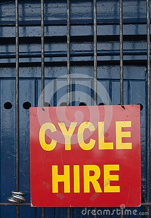 Cycle hire sign