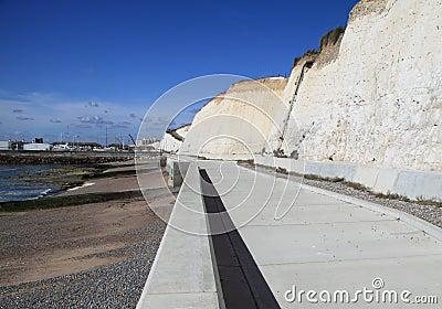 Cycle path by beach