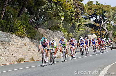 Cycle race from Milano to San Remo Editorial Stock Photo