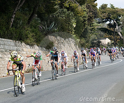 Cycle race from Milano to San Remo 2011 Editorial Image