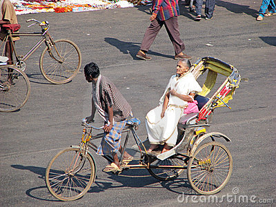 Cycle rickshaw in Puri Editorial Photography