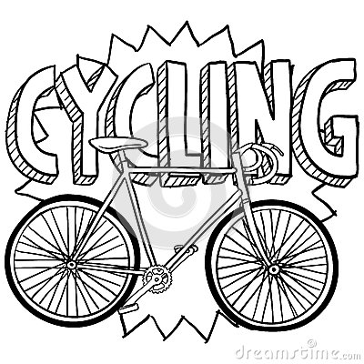 Cycling bicycle sports sketch