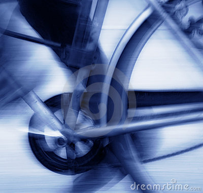 Free Cycling Blur Blue Tone Royalty Free Stock Photo - 2142995