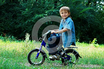 Cycling boy
