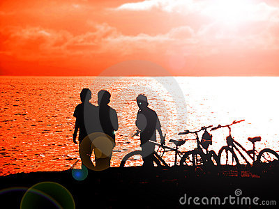 Cycling and fishing