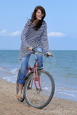 Free Cycling Girl Royalty Free Stock Photos - 5397488