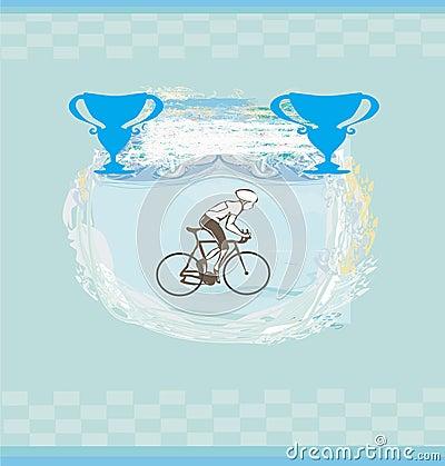 Cycling Grunge illustration