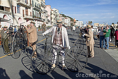 Cycling through history event in Imperia Editorial Photo