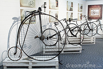 Cycling through history exhibition in Imperia Editorial Photography