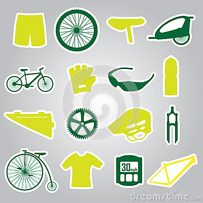 Cycling icon stickers eps10
