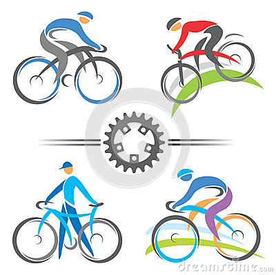 Free Cycling Icons Royalty Free Stock Images - 31036399