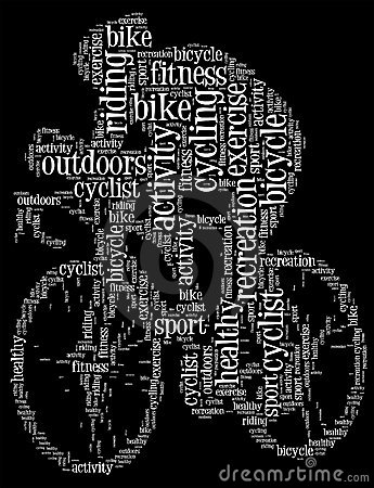 Cycling info-text graphic
