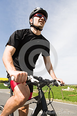 Free Cycling Man Royalty Free Stock Photo - 24927485