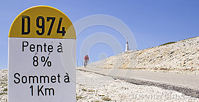 Cycling at Mont Ventoux