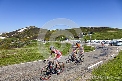 Cycling in Pyrenees Editorial Stock Image