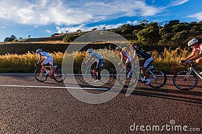 Cycling Race Leaders Hill Climb