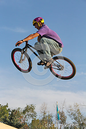 cycling teenager BMX