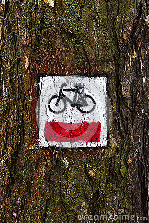 Cycling trail symbol