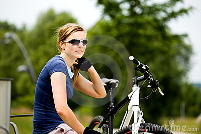 Cycling woman