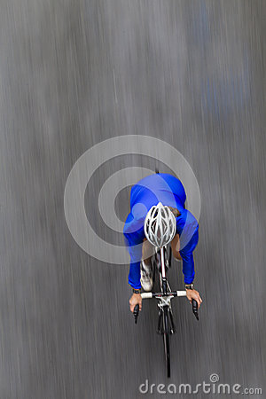 Cycling Woman Speed Motion Editorial Stock Photo