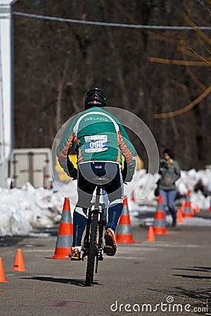 Cyclist Editorial Image
