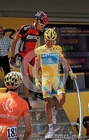 Cyclist Alberto Contador Editorial Photography
