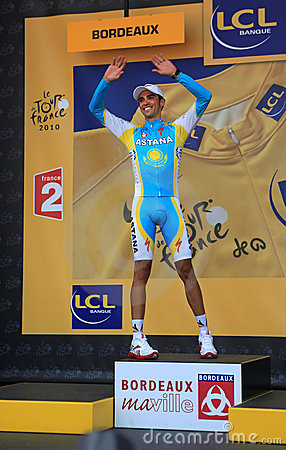 Cyclist Alberto Contador Editorial Stock Image