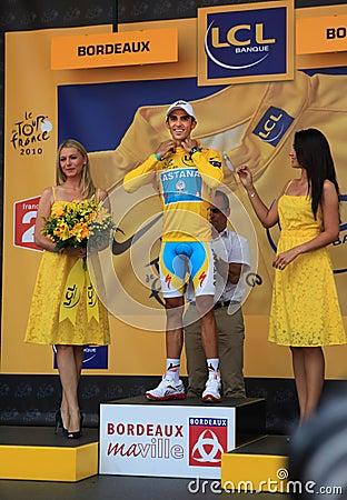 Cyclist Alberto Contador Editorial Stock Image
