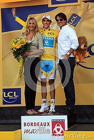Cyclist Alberto Contador Editorial Stock Photo