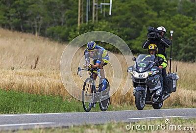 The Cyclist Alberto Contador Editorial Image