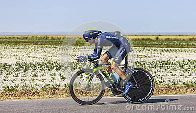 The Cyclist Alejandro Valverde Editorial Photo