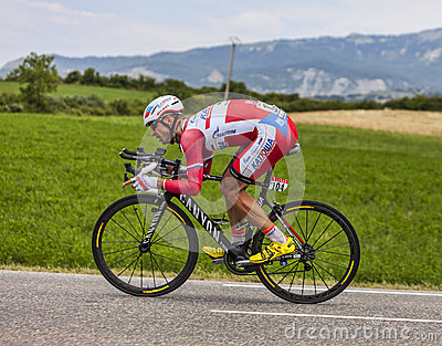 The Cyclist Aleksandr Kuschynski Editorial Stock Photo