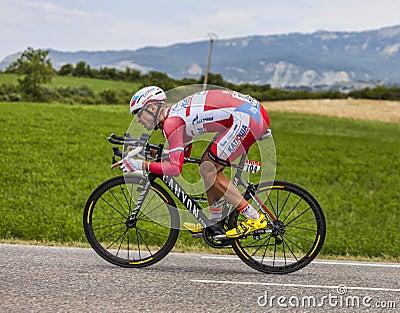 The Cyclist Aleksandr Kuschynski Editorial Stock Photo