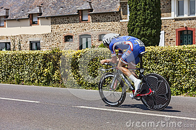 The Cyclist Alexandre Geniez Editorial Stock Image