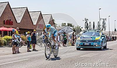 The Cyclist Alexey Lutsenko Editorial Photography