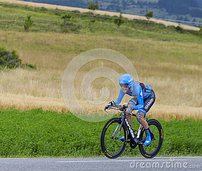 The Cyclist Andrew Talansky Editorial Stock Image
