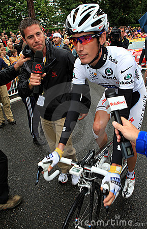 Cyclist Andy Schleck Editorial Photo