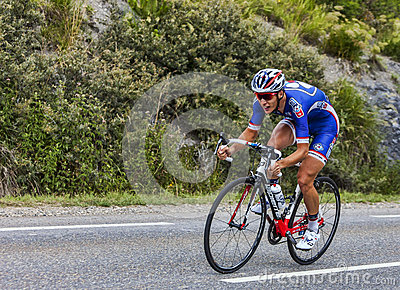 The Cyclist Arthur Vichot Editorial Stock Image