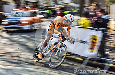 The Cyclist Astarloza Mikel- Paris Nice 2013 Prolo Editorial Image