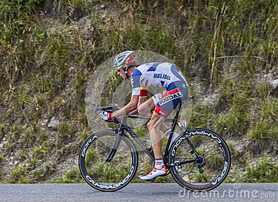 The Cyclist Bart De Clercq Editorial Stock Image