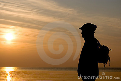 Cyclist On A Beach. Stock Photos - Image: 2172503