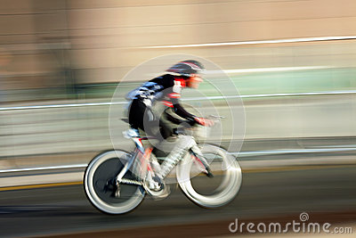 Cyclist , blurred motion Editorial Photography