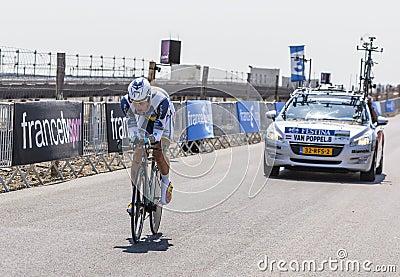 The Cyclist Boy van Poppel Editorial Stock Photo