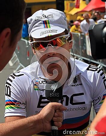 Cyclist Cadel Evans Editorial Stock Photo