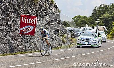 The Cyclist Cameron Meyer Editorial Photo