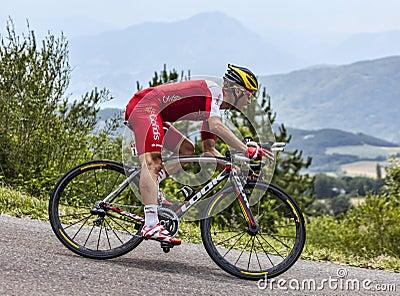 The Cyclist Christophe Le Mevel Editorial Photo