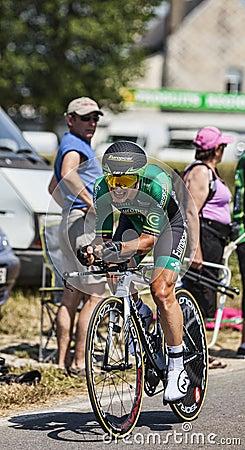 The Cyclist Cyril Gautier Editorial Photo