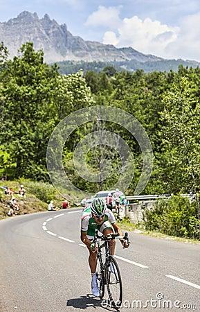 The Cyclist Cyril Lemoine Editorial Photo