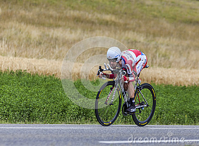 The Cyclist Daniel Moreno Fernandez Editorial Stock Image
